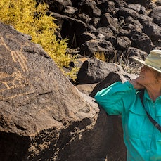 Petroglyph National Monument - More than 50,000 prehistoric petroglyphs, images carved into rocks, stretch 17 miles along Albuquerque, New Mexico's West...