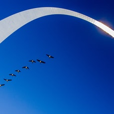 Jefferson National Expansion Memorial - The soaring 630-foot stainless steel Gateway Arch on the bank of the Mississippi River in St. Louis, Missouri is...