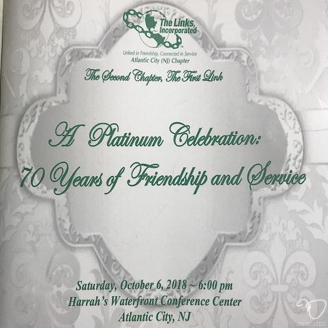 THE LINKS, INCORPORATED (70th Year Gala) - STEP & REPEAT PHOTOS Wildwood Room  (Harrahs Resort Casino)
