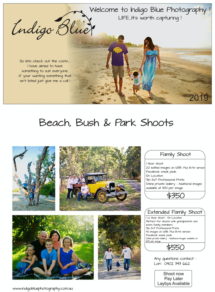 Indigo Blue Photography Beach Bush & Park 2019