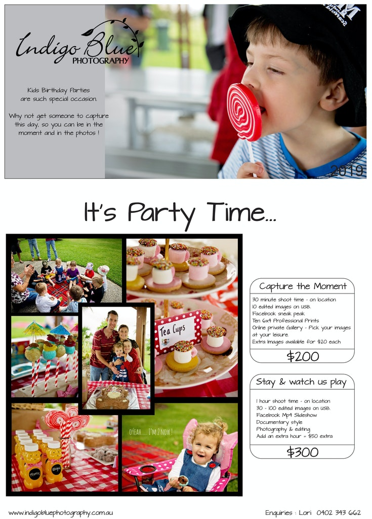 Indigo Blue Photography Kids Parties 2016