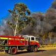 Castlereagh Bushfire 3/12/2019 - An out of control bushfire threatened properties along Smeeton Rd at Cranebrook this afternoon. 