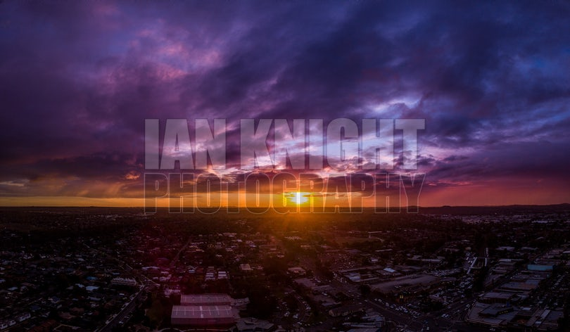 Purple Sunset - Sunset over Melbourne.  *Please note that the final product will be printed without watermark. Print price does not include shipping...