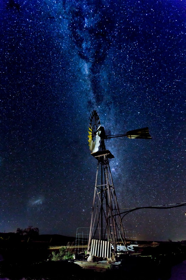 Star filled night - When the Milky way lights up the night in a Flinders Ranges winter's night