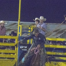 SADDLE BRONC - NIGHT - Taken in very low light.