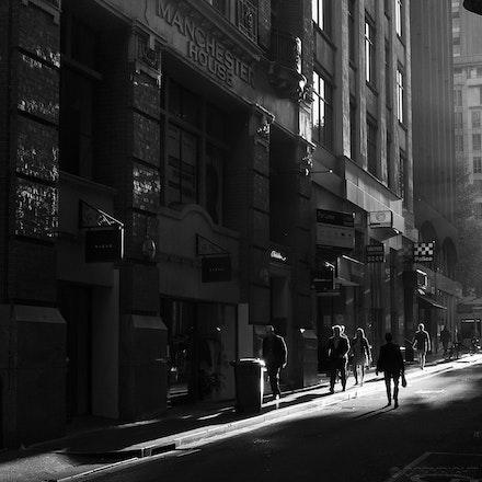 Flinders Lane, Melbourne - Morning light in Flinders Lane, Melbourne