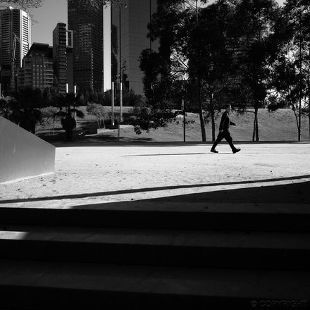 Birrarung Marr Shadows - Long shadows in Birrarung Marr park, Melbourne