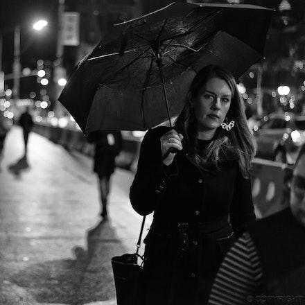 Woman with Umbrella - Woman with umbrella on Princes Bridge, Melbourne