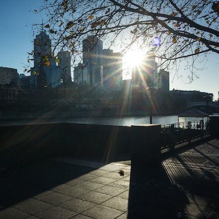 Southgate Light & Shadow - The Southgate promenade, Melbourne