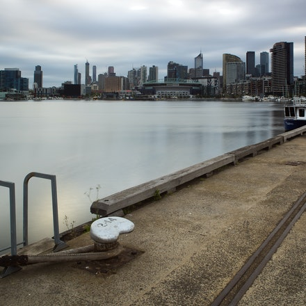 Victoria Harbour Wharf - An early morning shot of a wharf at Victoria Harbour in the Docklands district of Melbourne