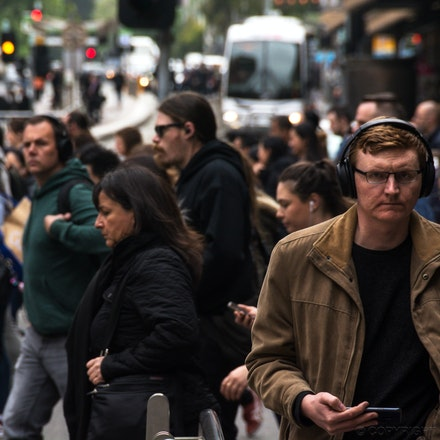 Melbourne Street Scene - A street scene on a busy Friday morning in Melbourne