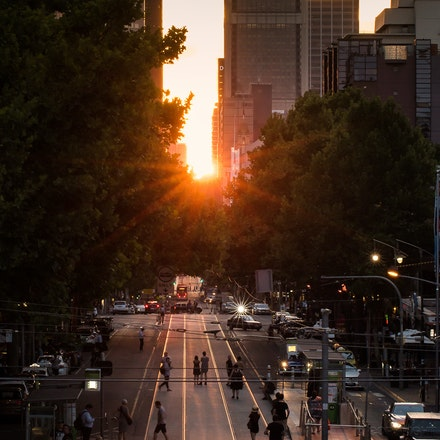 Melbhenge - Melbhenge, the specific day of the year when the sun lines up exactly with Melbourne's street grid