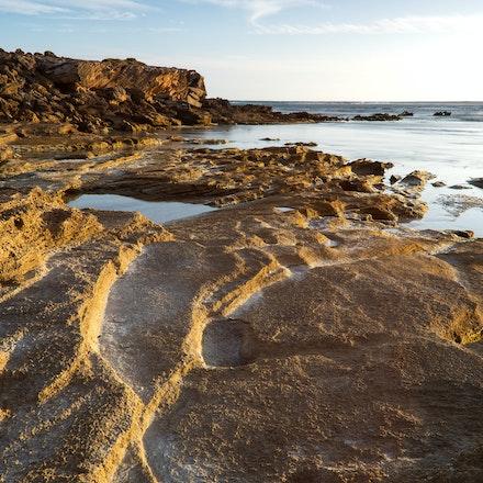 Shipwreck Coast Rocks at Dusk