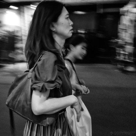 Osaka Street Scene - An interaction in a back street of Osaka, Japan
