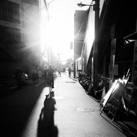 Osaka Shadows - Long shadows in Osaka, Japan