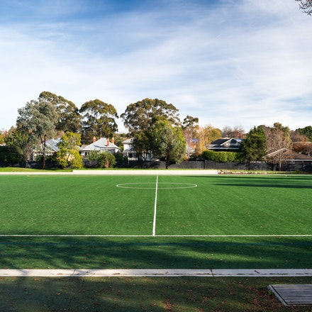 Camberwell High School - Camberwell High School sportsfield. Landscape architecture by Urban Initiatives