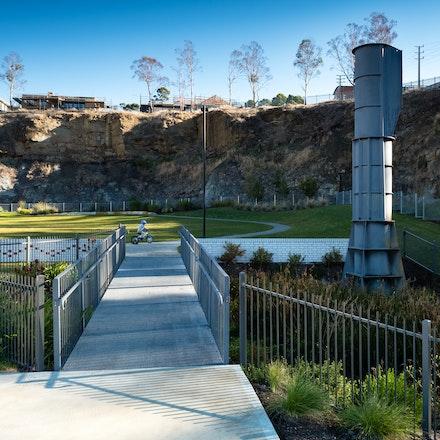 Giblin Street Quarry - Giblin Street Quarry, Hobart Tasmania. Landscape architecture by Urban Initiatives