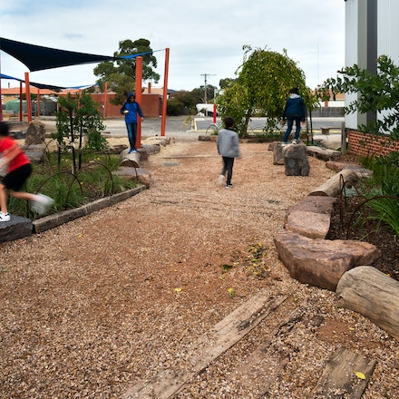 Footscray North Primary School - Footscray North Primary School playground. Landscape architecture by Urban Initiatives