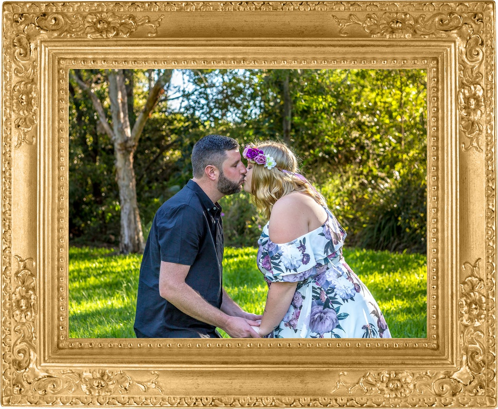 Gold Frame Couple