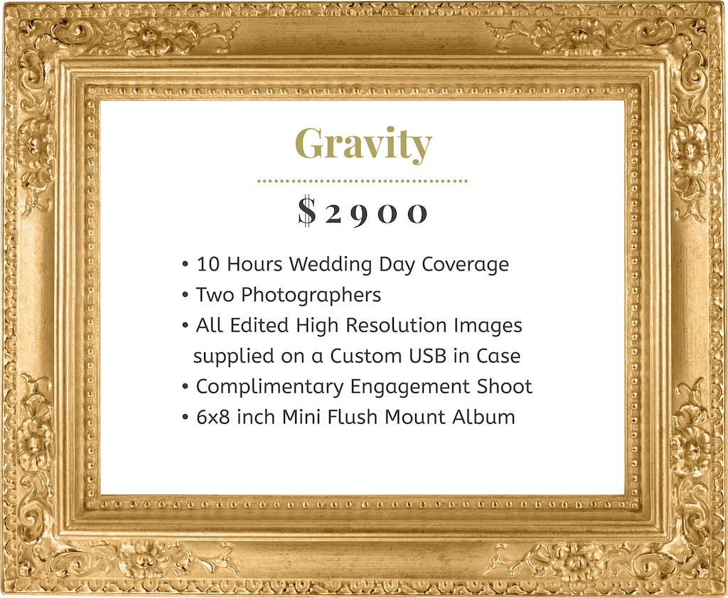 Gravity with Gold Frame