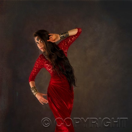 Fashion Photography - The fabulous Leonora looking elegant! She is dressed in Red Satin. If you would like to be a Fashion Model call us.