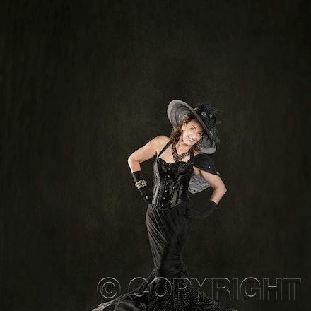 Fashion Model in Black - Leura Fashion Photography. Model Vicki in our studio.