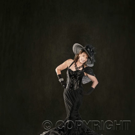 Fashion Model in Black - Leura Fashion Photography. Model Vicki in our studio.
