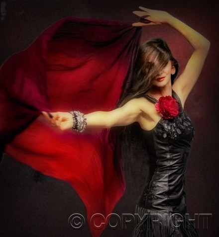 Lithgow Fashion Model - Lithgow Fashion Model looking good in Red and Black. Photo printed on Canson Fine Art Paper.