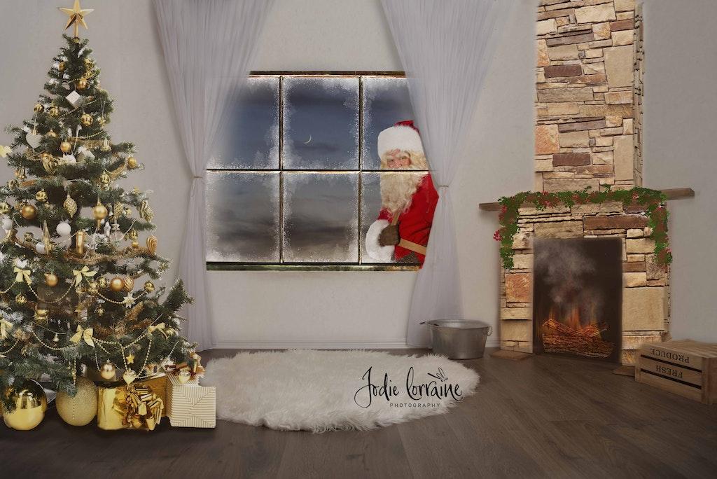 Father Christmas through window