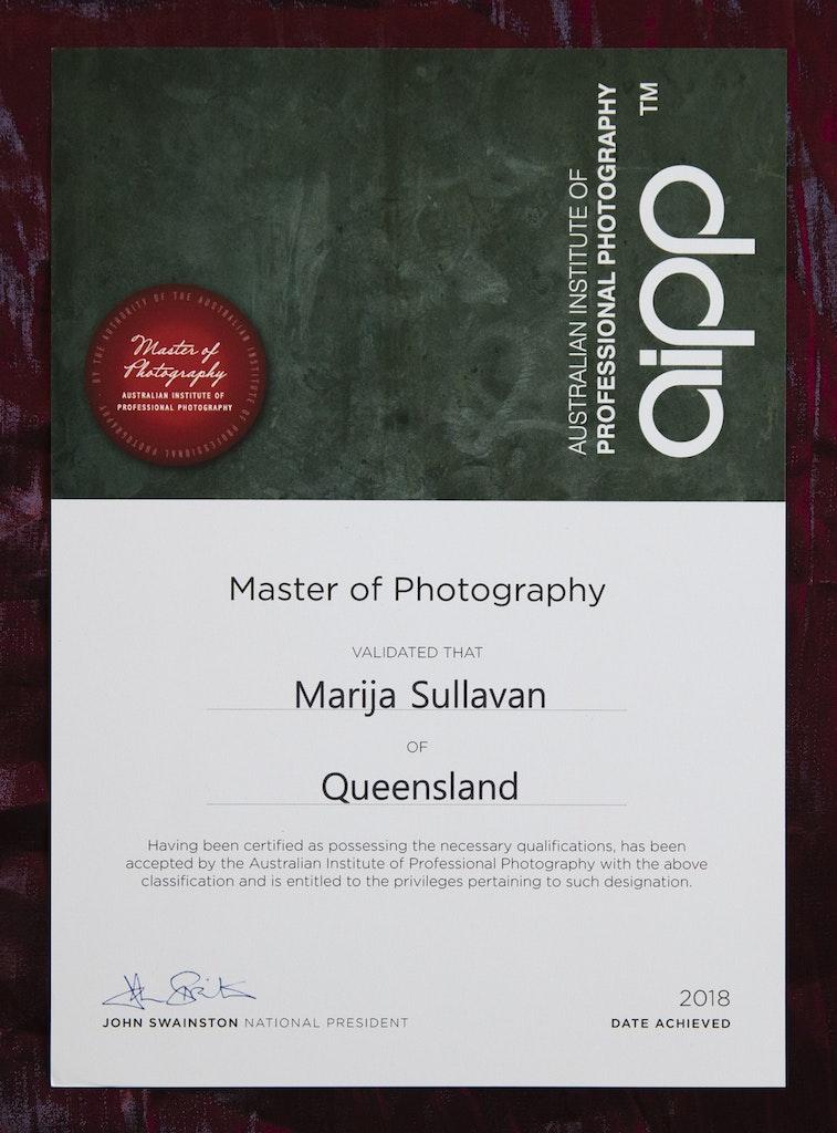 Master of Photography Certificate_©MarijaSullavan copy