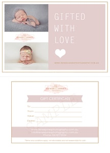 Gift Certificates - Brisbane Newborn Photographer - Photography gift certificate for Brisbane newborn and baby photography