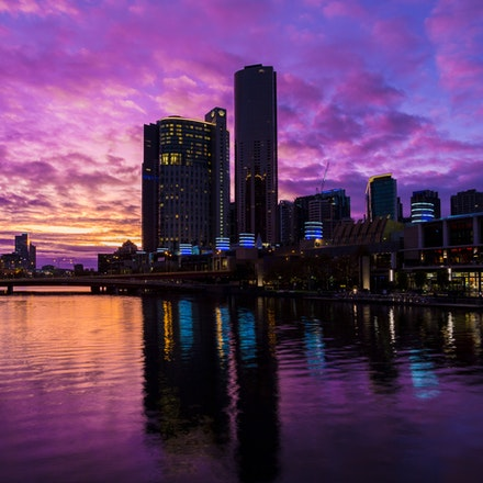Southbank in Purple - Melbourne