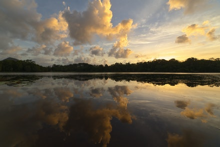 Reflection - Sunset reflection at the Lake MacDonalds in Queensland
