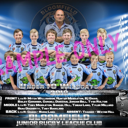 U10 Wildcats Team_sample