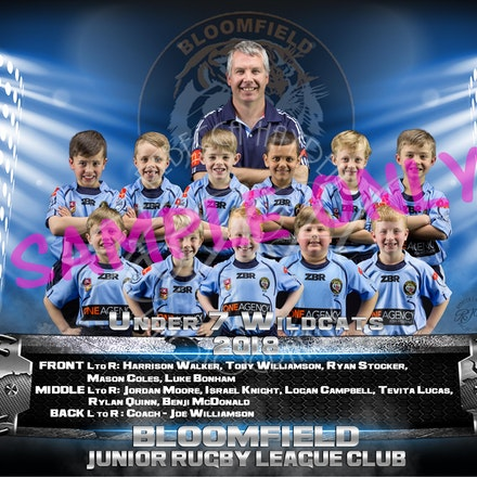 U7 Wildcats Team-sample