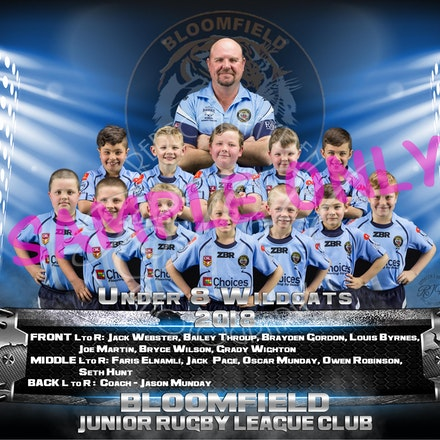 U8 Wildcats Team-sample
