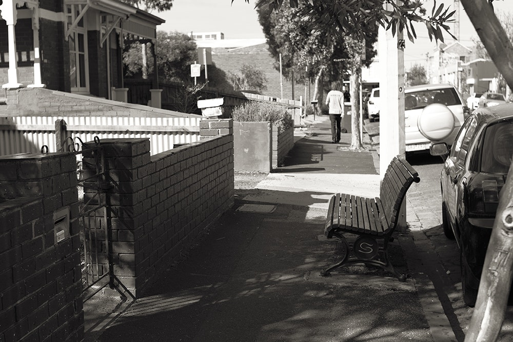 Bench on Union St Windsor
