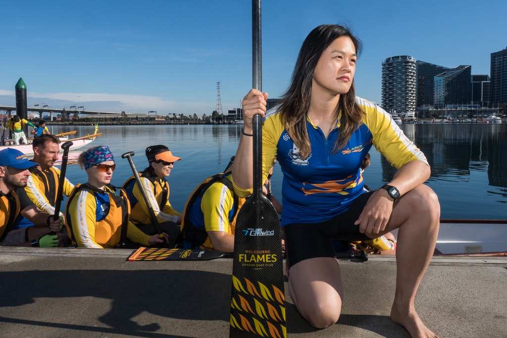 "Michele - ""I am proud of the Melbourne Flames for being the only dragon boat institution in Victoria to publicly support those impacted by the 2017 plebiscite...."