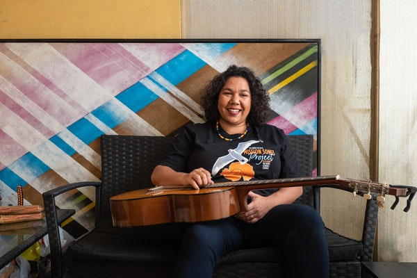 Jessie - I find pride in my Indigenous heritage, representing my family and my community and being a cultural practitioner of song traditions for my people....