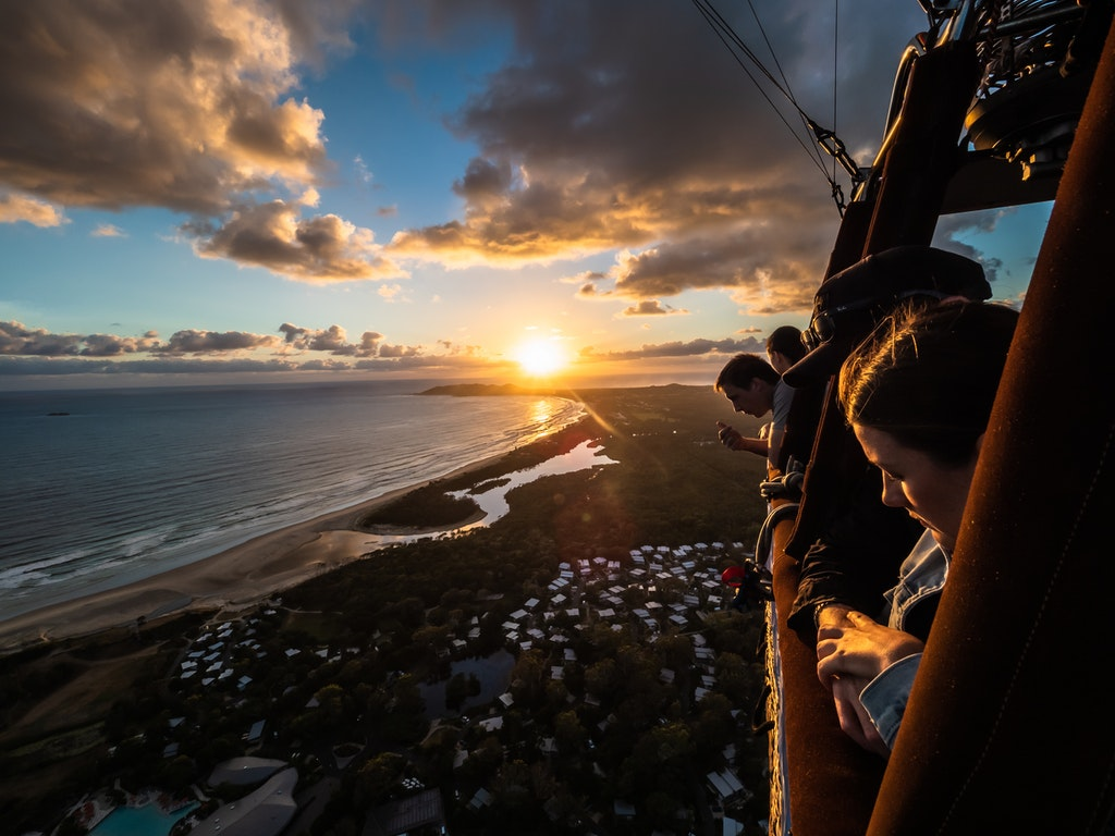 Byron Bay Ballooning - Sunrise from a balloon with Byron Bay Ballooning.