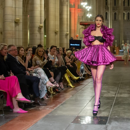 MBFF MERCEDES-BENZ GROUP SHOW 1 - Mercedes-Benz Fashion Festival Brisbane hosted a special off-site runway show at St John's Cathedral in the CBD.  The...