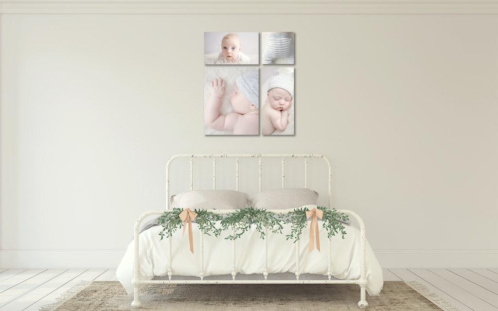 Bedroom newborn photography roomview
