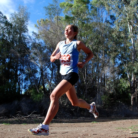 Tessa Craig - Australian trial for 2010 World Cross Country held at Brimbank Park, Melbourne. January 2010.