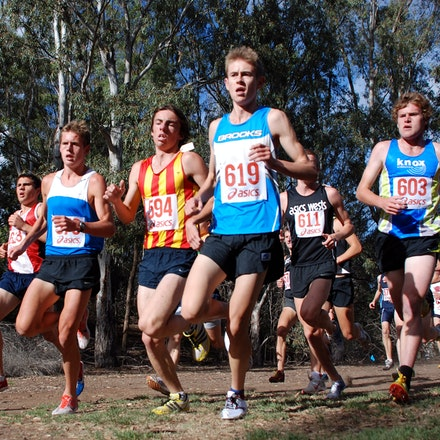 Junior men's race - Australian trial for 2010 World Cross Country held at Brimbank Park, Melbourne. January 2010.