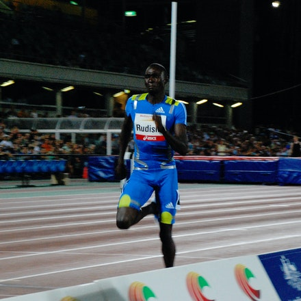 David Rudisha - David Rudisha strides away to win the 800m at the 2010 Melbourne Track Classic.