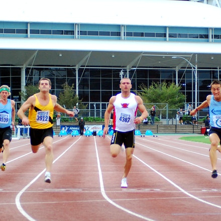100m - Tim Rooke from Mentone thwarted the plans of world championship 400m semi-finalist Sean Wroe to claim the 100m title with a 10.99 second run into...