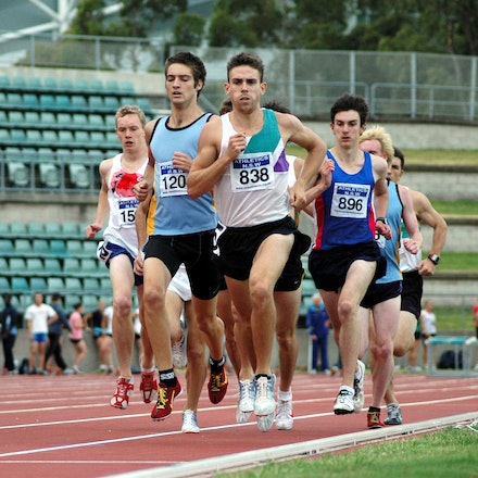 Matthew Hammond - Matthew Hammond leads the way in the 1500m at a NSW Allcomers Meet in January, 2009.