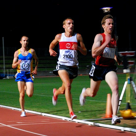 NSW 3000m Championships 2009 - Brenton Rowe leads Ryan Gregson and Jeff Hunt in the 2009 NSW 3000m Championships. Gregson would take victory in 8:00.85,...