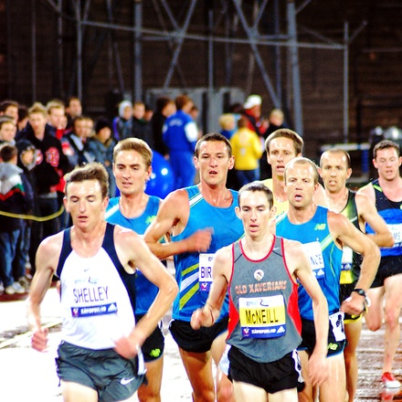 Lead pack - The lead pack in the Australian 10000m Championship held in conjunction with teh 2009 Zatopek:10 meet, with Michael Shelley and David McNeill...