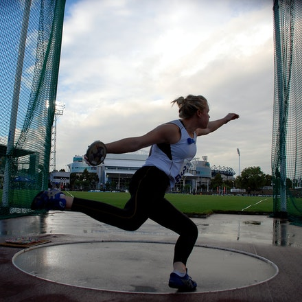 Dani Samuels - The 2009 Zatopek meet held at Olympic Park, Melbourne.Zatopek 2009